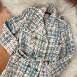 Marc Jacobs Wool Plaid Peacoat